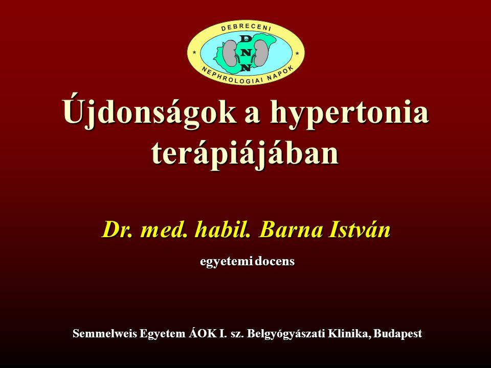 előadások a hipertónia terápiájáról)