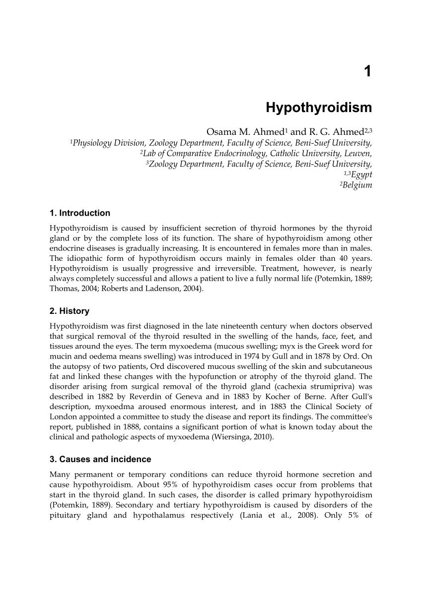 hipertónia hypothyreosis