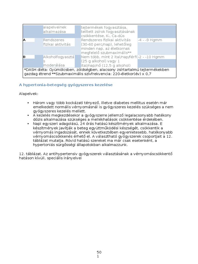 Hipertónia 1 fok: kezelés és megelőzés - Atherosclerosis November