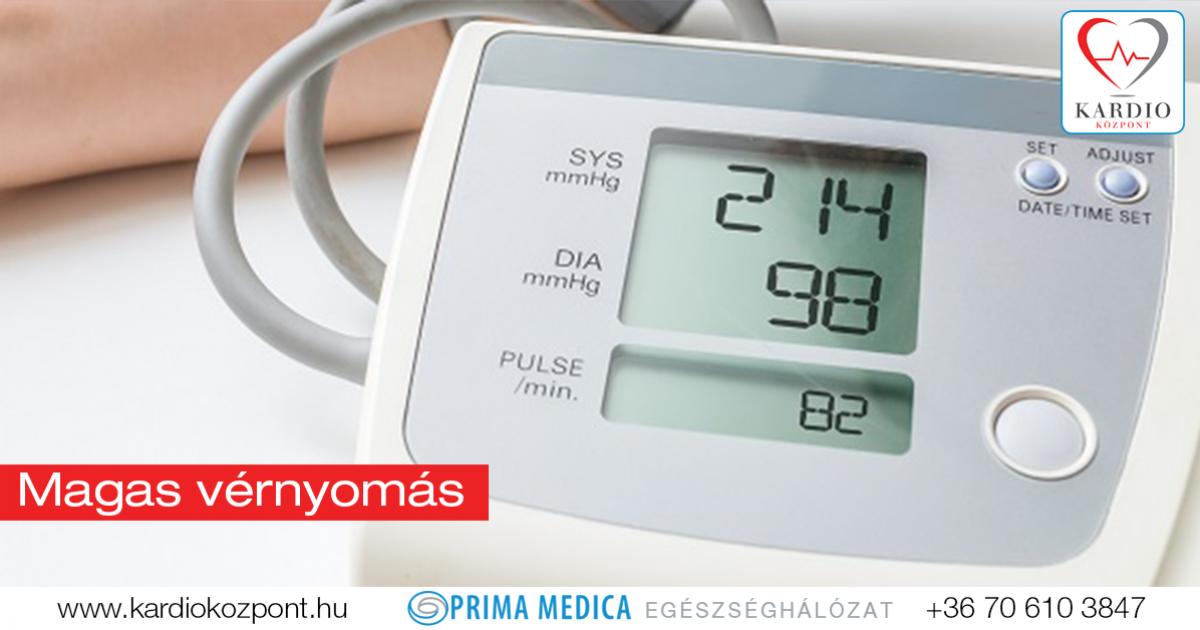 magas vérnyomás szívnyomás esetén primer pulmonalis hipertónia