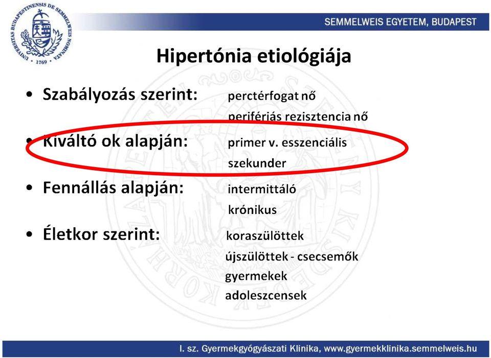 parenchymás hipertónia