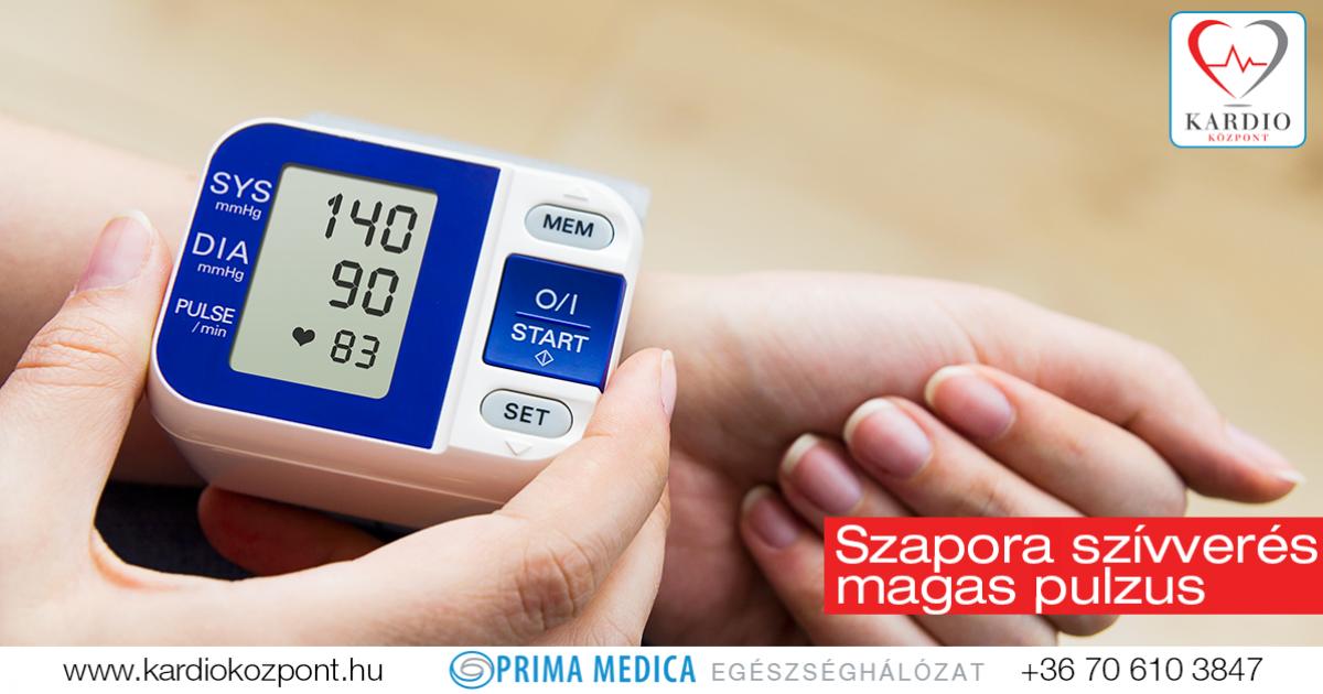 szívdobogás és magas vérnyomás