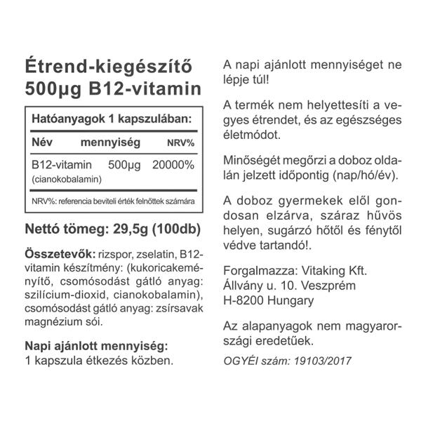 B 12-vitamin magas vérnyomás esetén ibuprofen és magas vérnyomás