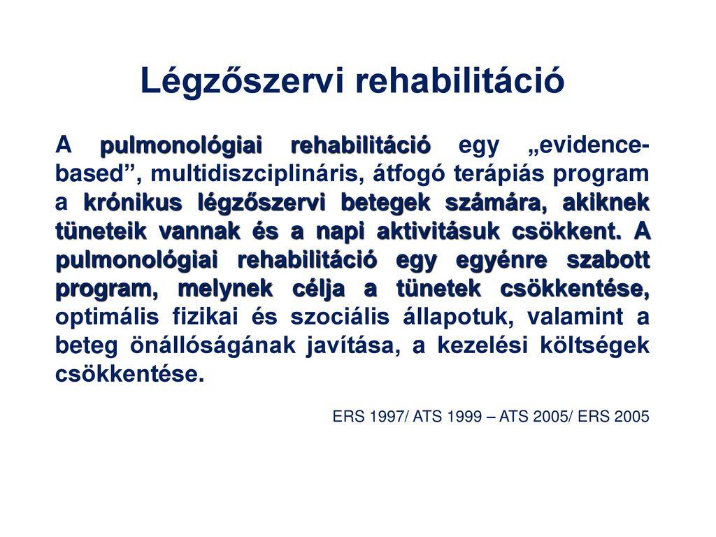 hipertónia rehabilitációs program magas vérnyomás milyen okai és kezelése vannak