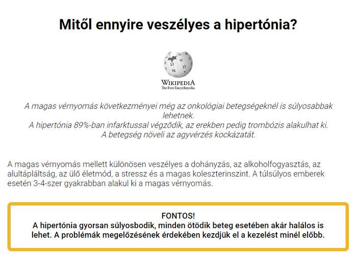 magas vérnyomású csoport nyugdíjas számára)