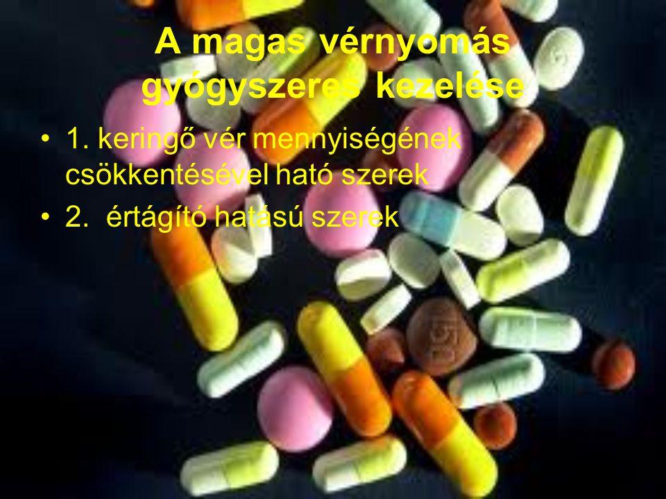 gyógyszerek első fokú magas vérnyomás kezelésére)
