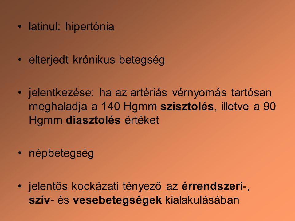 stádiumú magas vérnyomás és típusai)