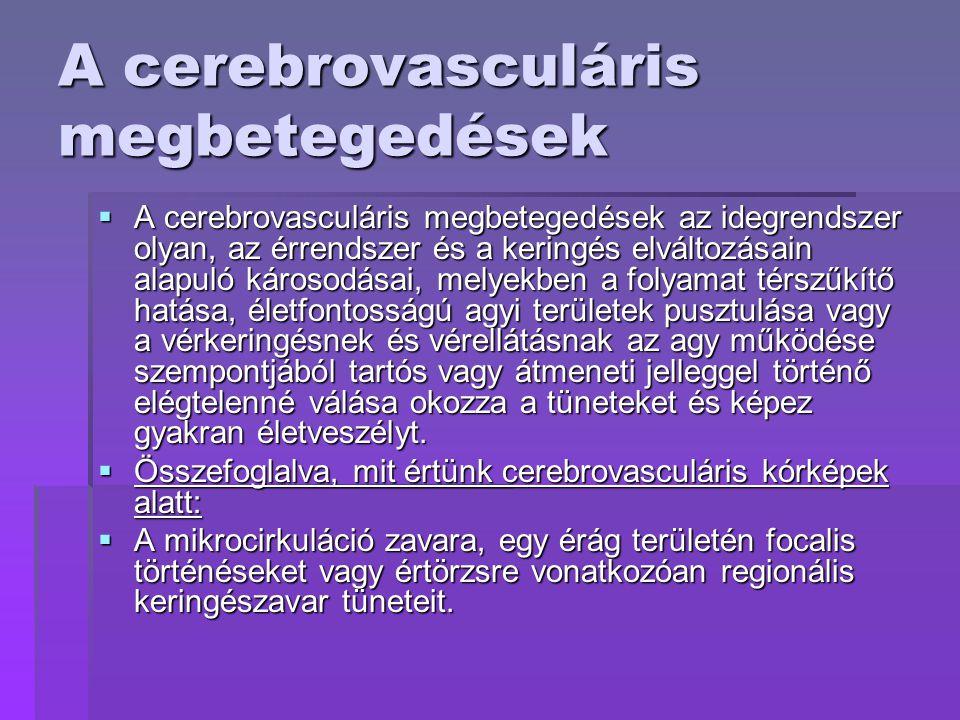 cerebrovascularis betegség magas vérnyomás)